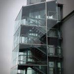 Gebäudeanbau aus Glas
