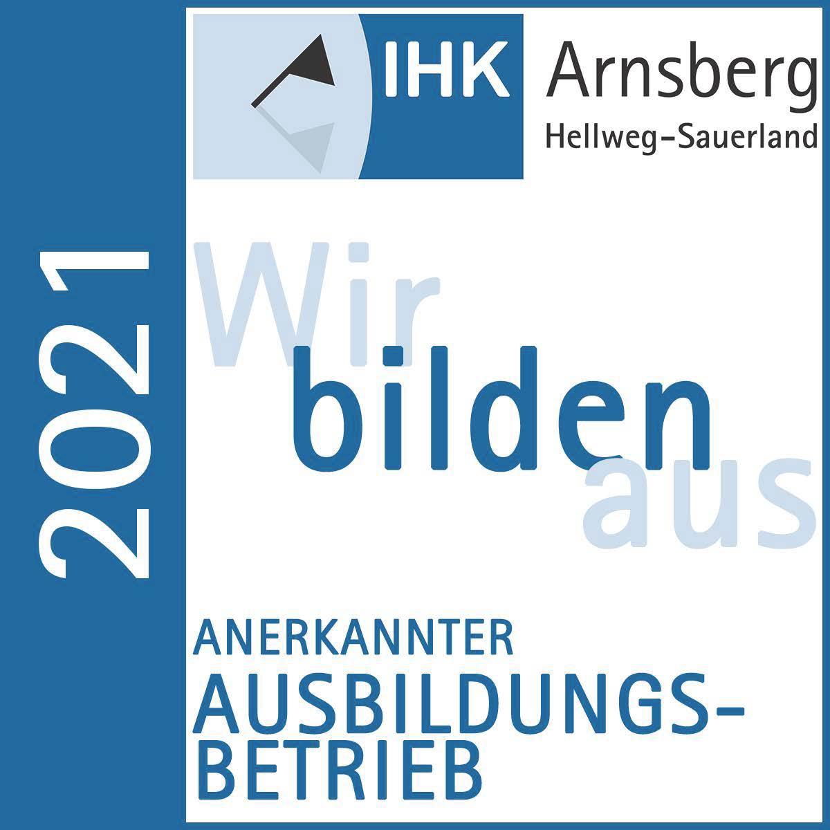 Logo Ausbildungsbetrieb von der IHK