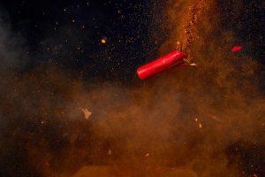 explodierender Böller beim Feuerwerk