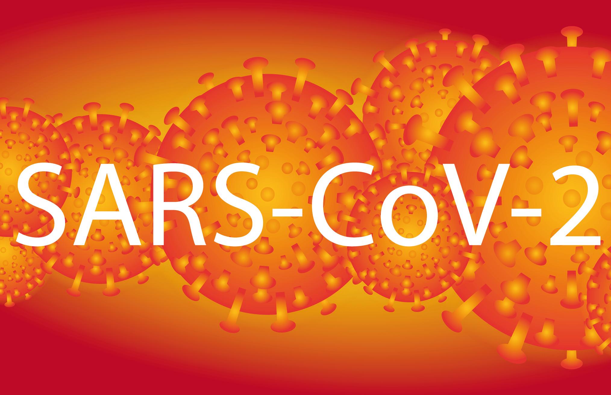 Corona-Virus Schriftzug