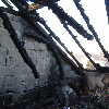 ausgebrannter Dachstuhl