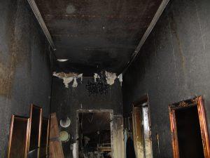 Brandschaden in einem Gebäude