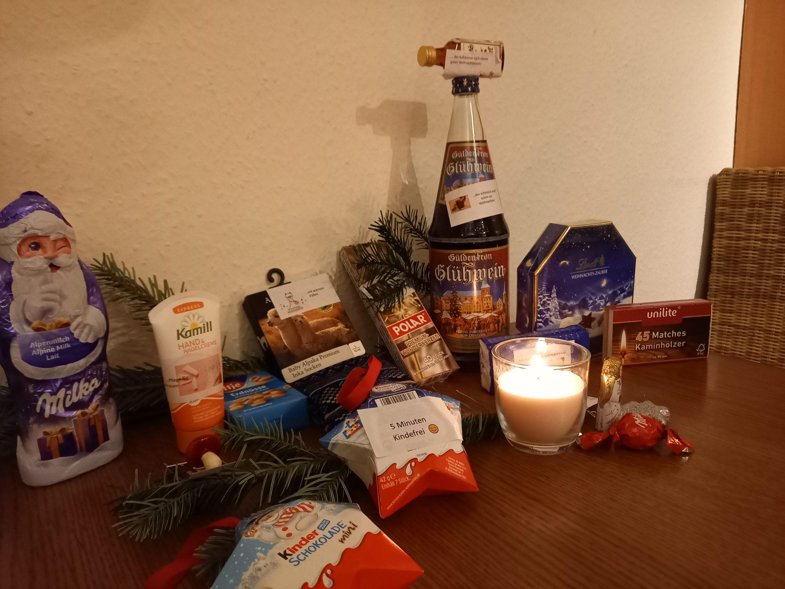 Weihnachten Inhalt Geschenktüte