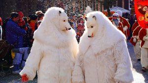 Eisbärkostüme im Karneval