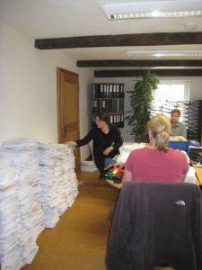 Papierstapel im Büro