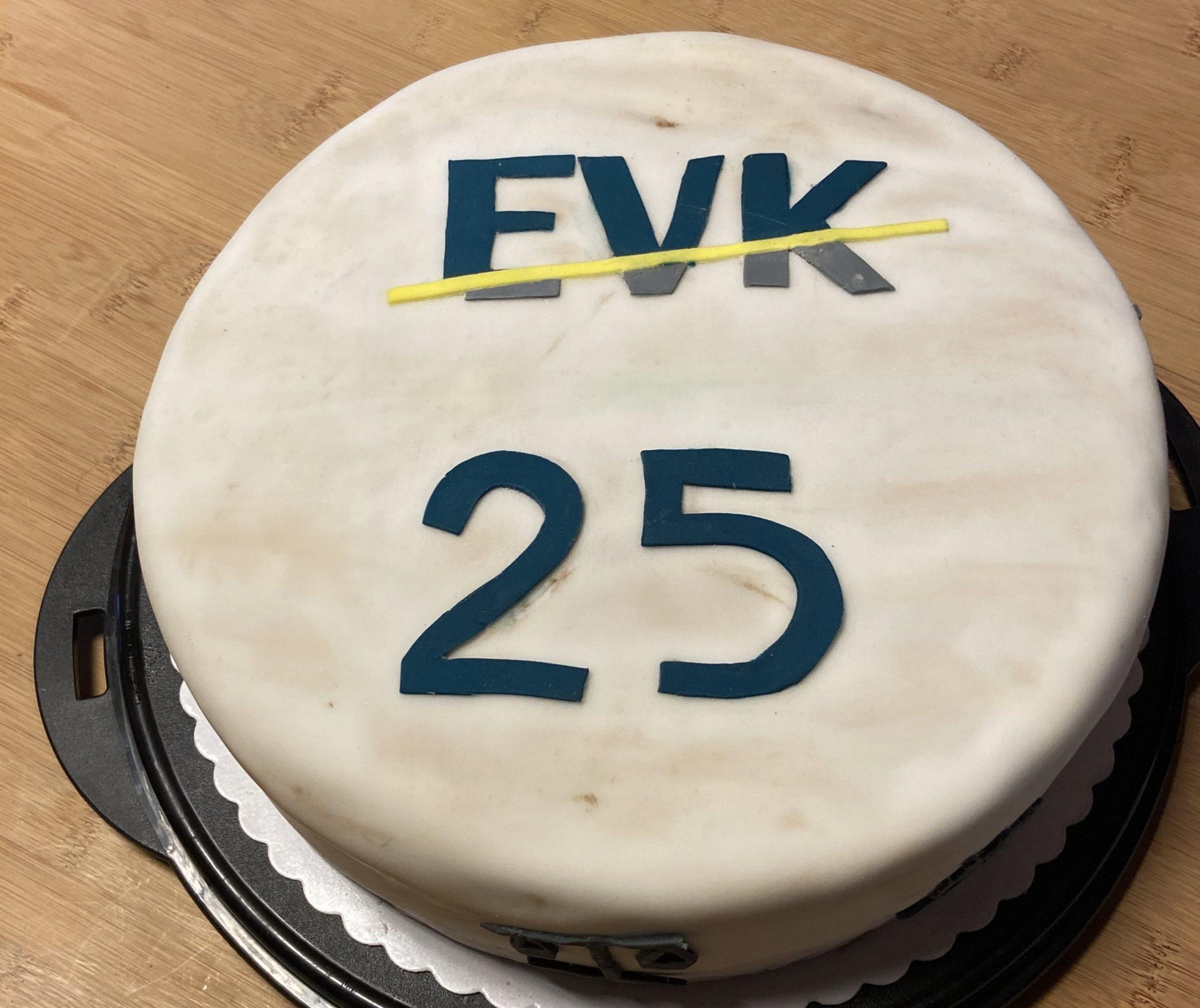 Torte zum Firmenjubiläum EVK