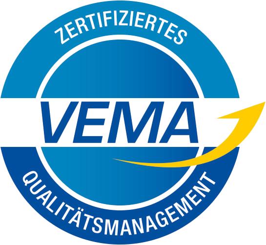 Logo Zertifizierung Qualitätsmanagement VEMA